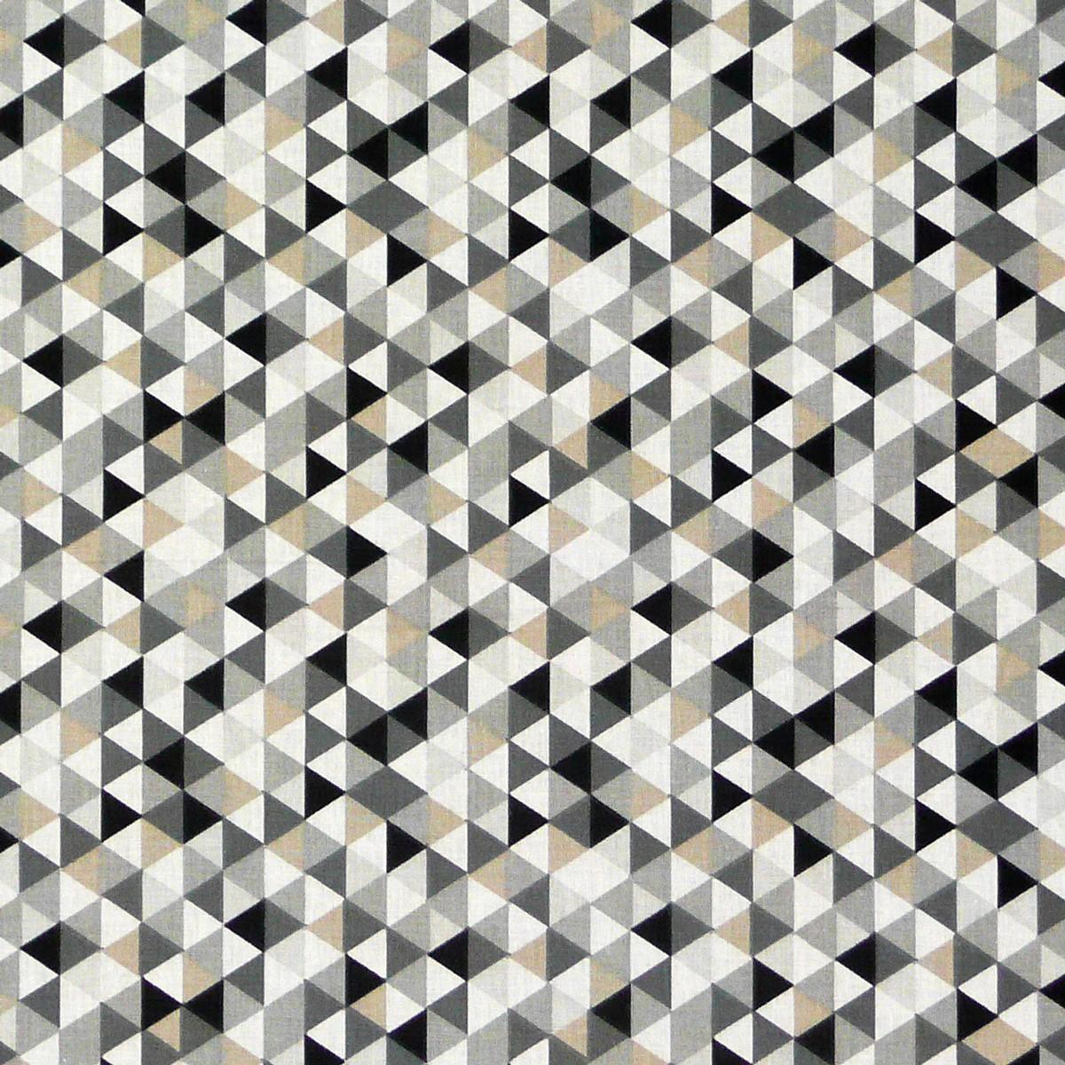 baumwollstoff dreiecke wei schwarz grau alle stoffe stoffe gemustert stoff retro. Black Bedroom Furniture Sets. Home Design Ideas