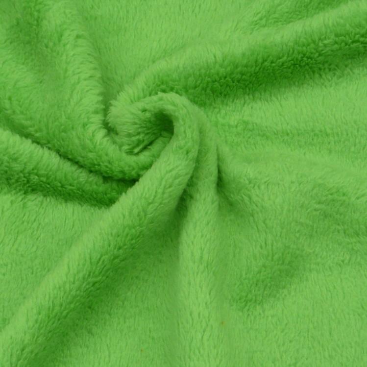wellness fleece stoff meterware apfelgr n alle stoffe stoffe uni fleece. Black Bedroom Furniture Sets. Home Design Ideas