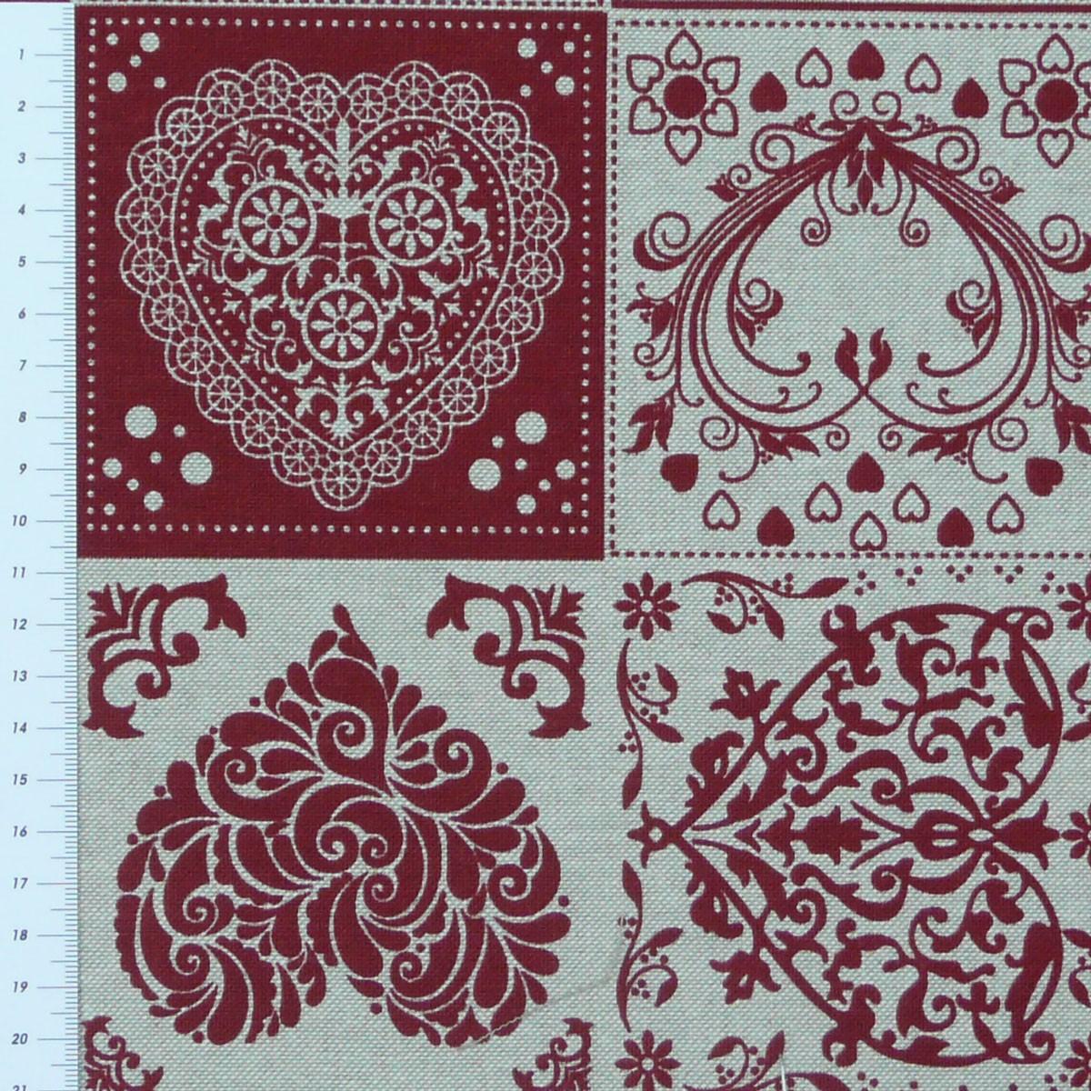 dekostoff meterware herzen karo weihnachten rot 1 40m breite alle stoffe stoffe gemustert stoff. Black Bedroom Furniture Sets. Home Design Ideas